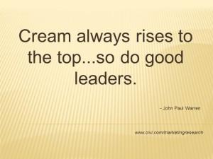 cream always rises
